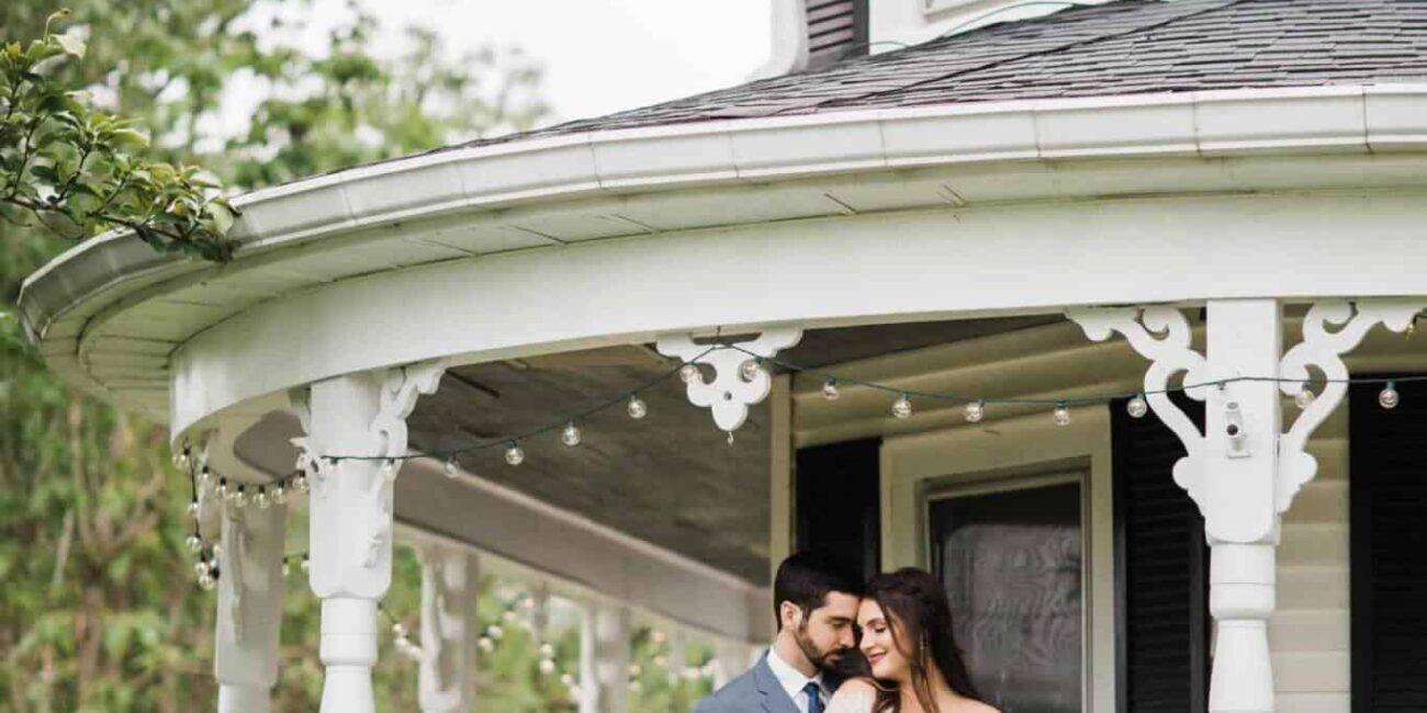 couple white porch